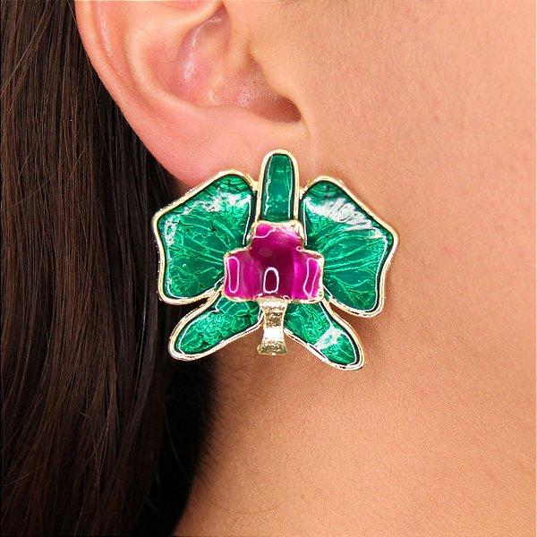 Brincos Lírio Orquídea