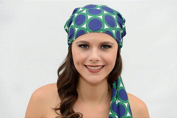 Lenço Quimioterapia  Headscarf Verde Poa