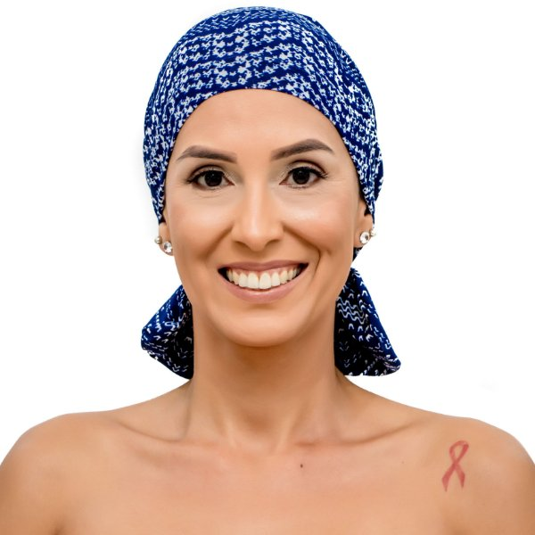 Lenço Quimioterapia Beanie Azul Degrade