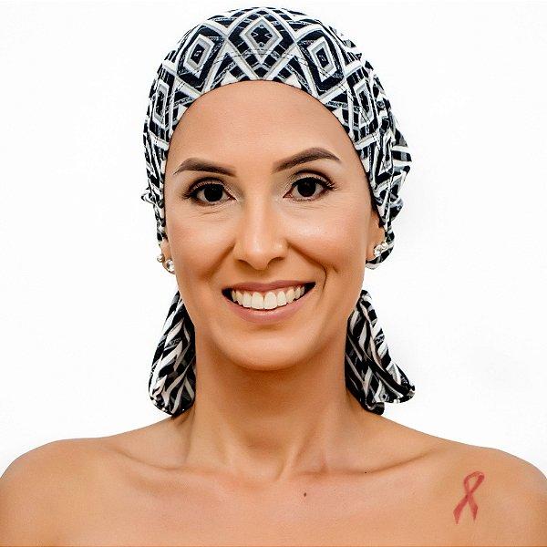Lenço Quimioterapia Beanie Geometrico