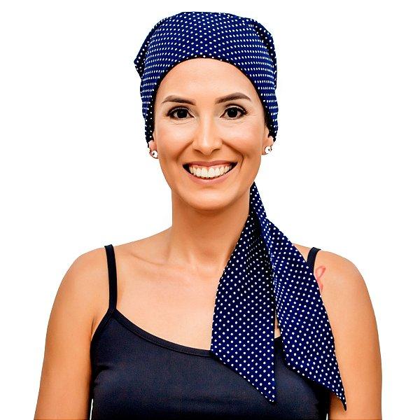 Lenço Quimioterapia Headscarf Azul Poa