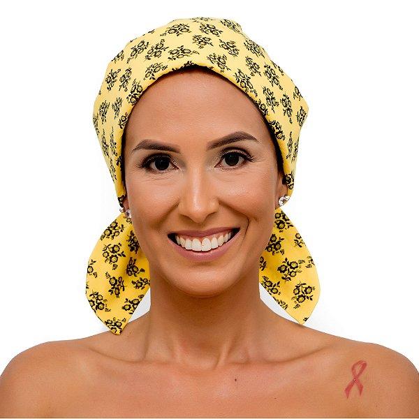 Lenço Quimioterapia Chapéu Amarelo Florzinha
