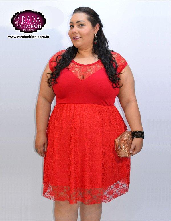 4f8e8463a vestido de festa em renda plus size - Moda Feminina Plus Size do ...