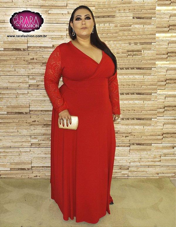 b697495eb57 Vestido Longo Glamour Plus Size