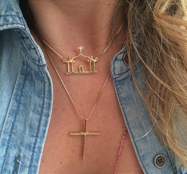 Colar Igrejinha Thassia - Ouro