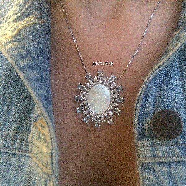 Medalha Milagrosa Madre - Ródio