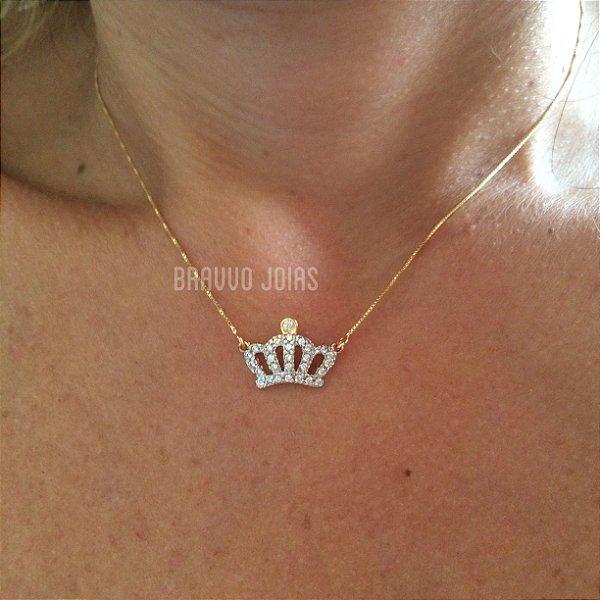 Colar Coroa Queen - Ouro