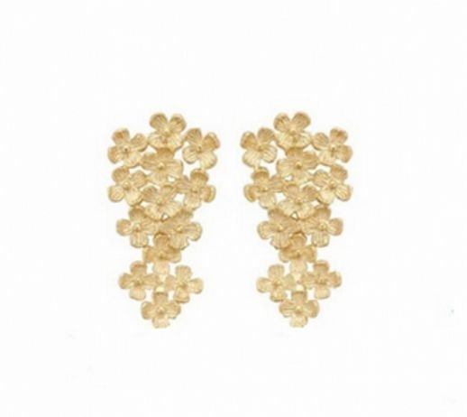 Brinco Flowers - Banho Ouro