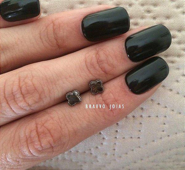 Brinco Segundo Furo Vuitton - Ródio Negro