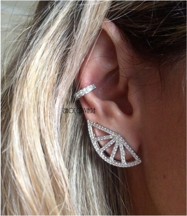 Brinco Ear Cuff Shine - Ródio