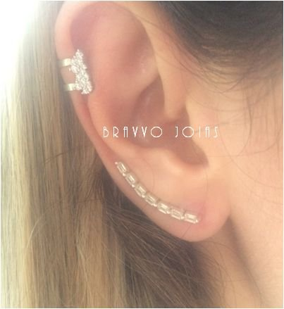 Brinco  Baguetes - Prata - Ear Cuff