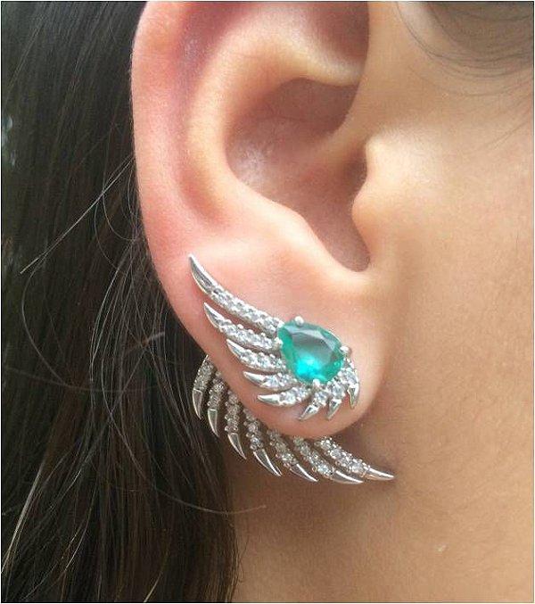 Brinco Ear Cuff Turmalina