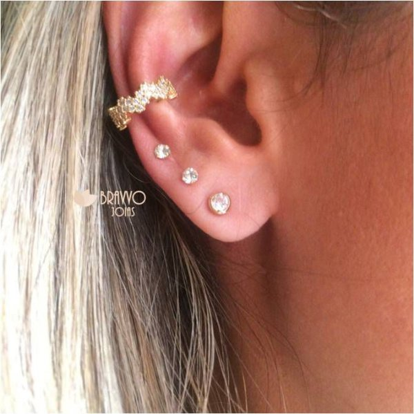 Piercing Falso Ouro - 1PÇ