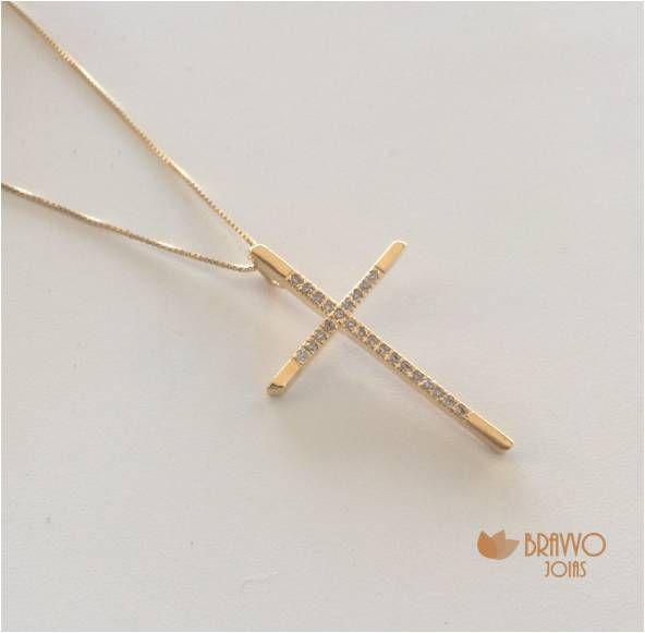 Colar Crucifixo - Ouro