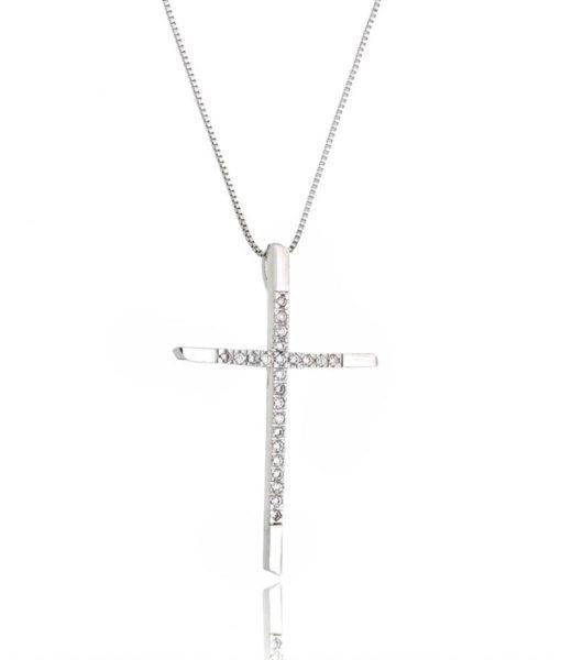 Colar Crucifixo - Ródio