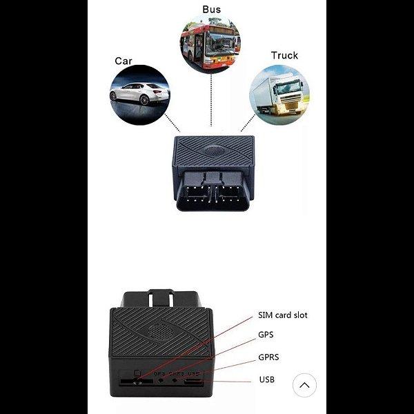 ObdII Gps Rastreador Carro Mini Gsm ObdII Dispositivo 16 pinos