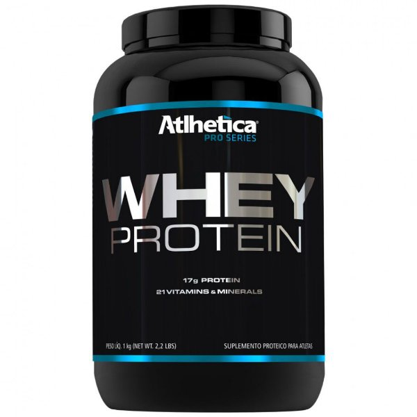 Whey protein pro series 1kg morango Atlhetica