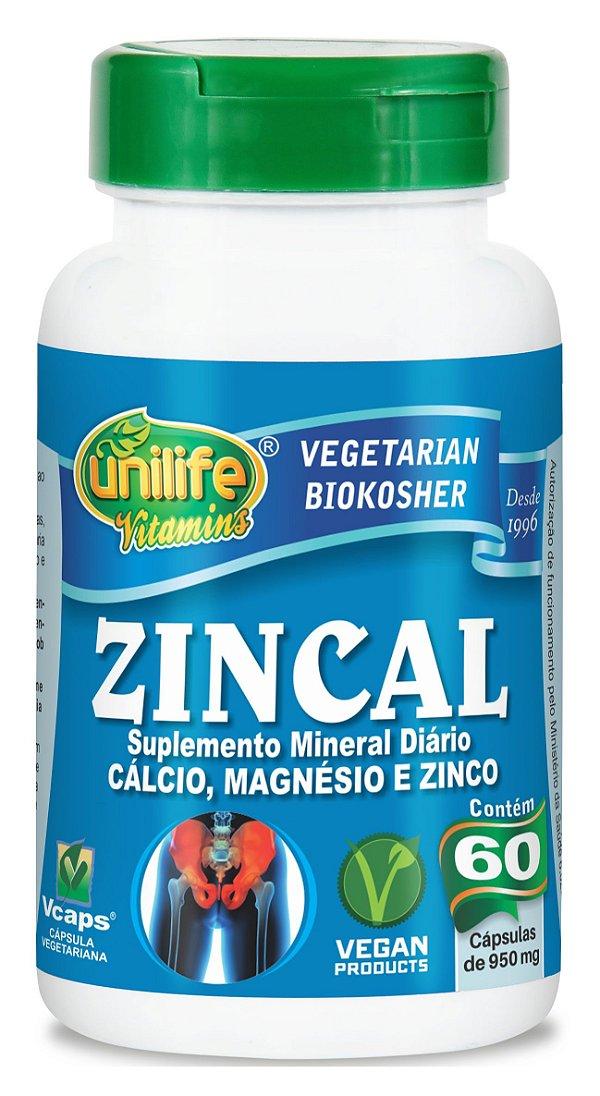 ZINCAL 60CAPS 950MG UNILIFE