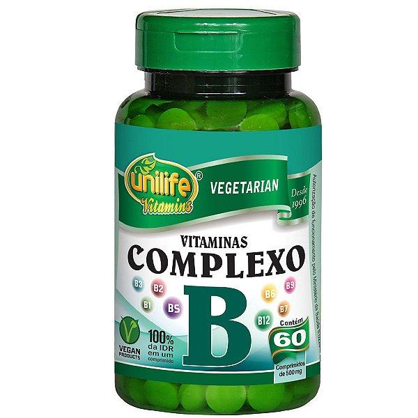 Complexo B 60 capsulas 500mg Unilife
