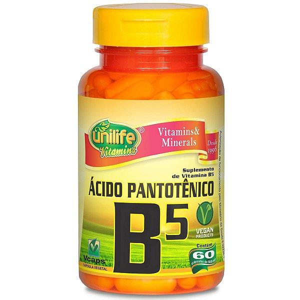 Vitamina B5 acido pantotenico 60 capsulas 500mg - Unilife