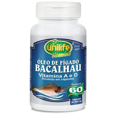Óleo de fígado de bacalhau capsulas 350mg - Unilife