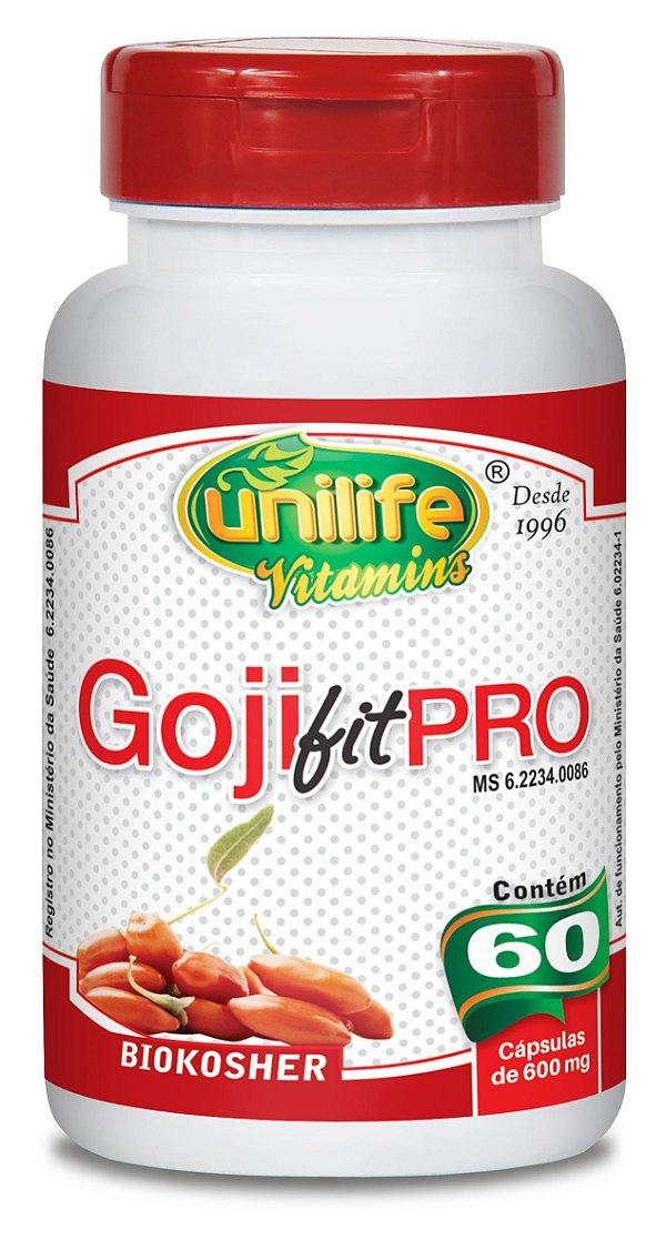 Goji fit pro 60 capsulas  600mg - Unilife