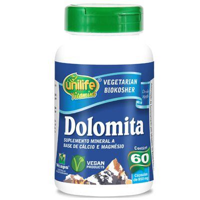 Dolomita calcio e magnesio 60caps 950 mg unilife