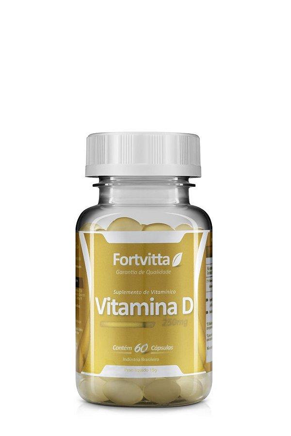Vitamina D 60 capsulas 250mg Fortvitta