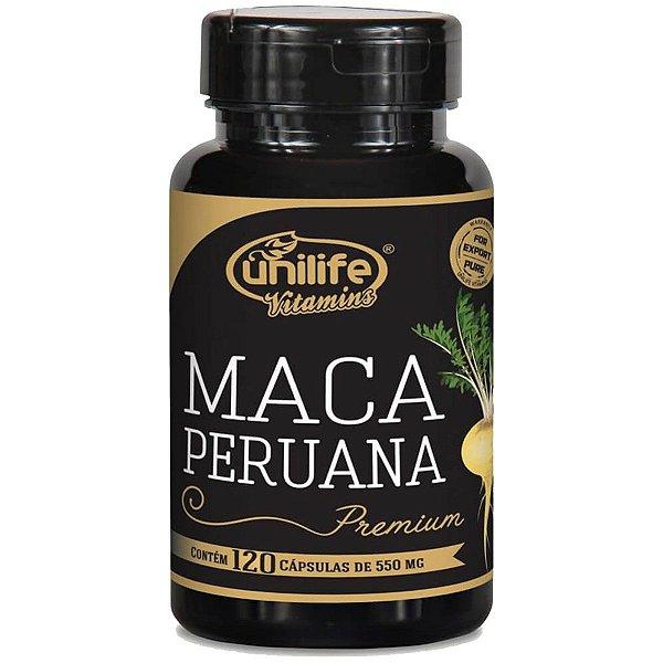 Maca peruana premium  pura  550 mg - 120 capsulas - Unilife