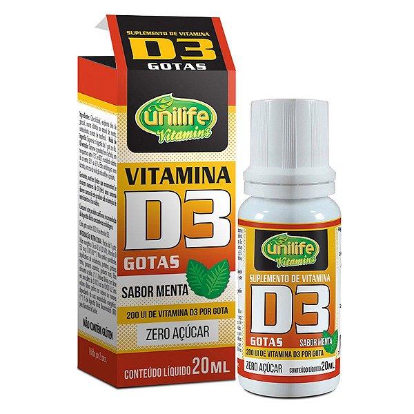 VITAMINA D3 EM GOTAS - SABOR MENTA - 20 ML