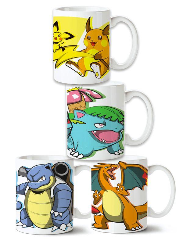 Conjunto de Canecas Pokémon - 4 unidades