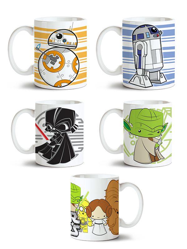 Conjunto de Canecas Star Wars - 5 unidades