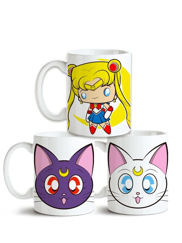 Conjunto de Canecas Sailor Moon