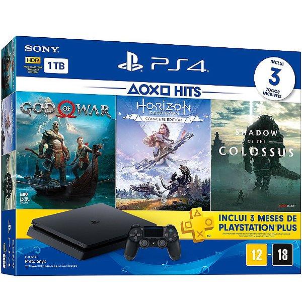 Playstation 4 SLIM 1 TB (com 3 jogos)