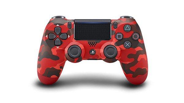 Controle Dualshock 4 - Vermelho Camuflado (Ps4)