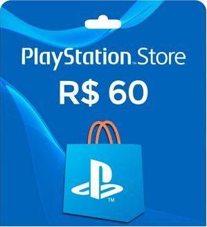 Gift Card Playstation Store Nacional R$ 60 (envio do código imediato)