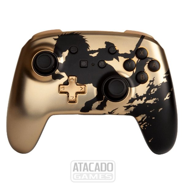 Controle Nintendo Switch PowerA - SEM FIO - Zelda Gold