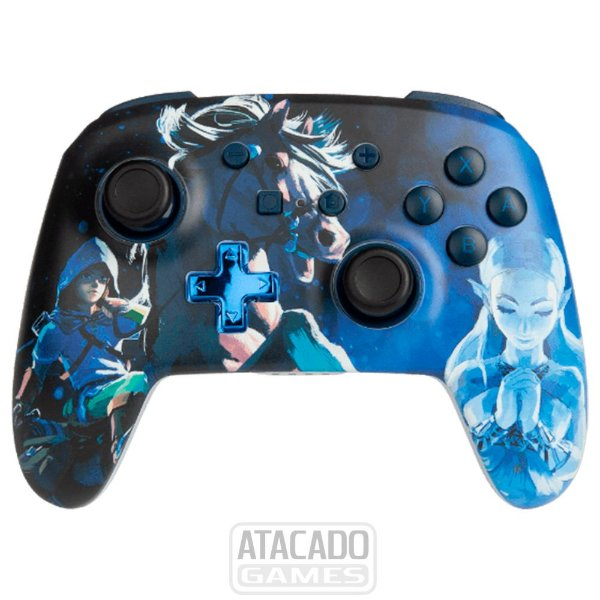 Controle Nintendo Switch PowerA - SEM FIO - Zelda Azul