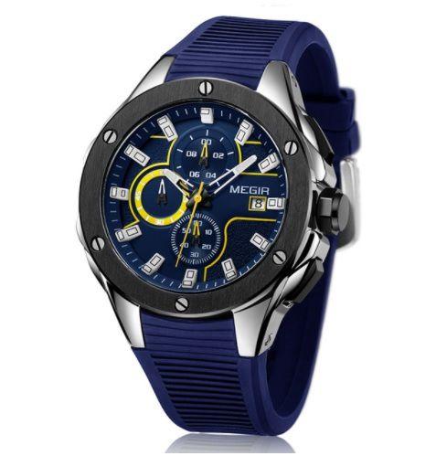 896787ce7ca Relogio Megir MARINERS Esportivo Luxo Executivo com Cronografo e Prova  D Agua