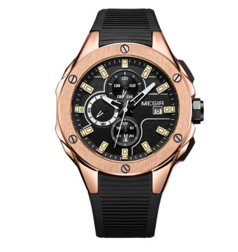 5242b72f81c Relogio Megir RANGERS Esportivo Luxo Executivo com Cronografo e Prova D Agua