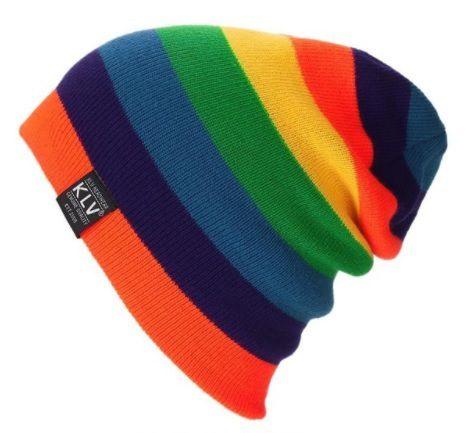 Touca KLV001 Colors Listras Coloridas Beanie Caidinha Surfe Hip Hop Street 412ee14cc64