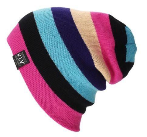 Touca KLV003 Pink Colors Listras Coloridas Beanie Caidinha Surfe Hip Hop  Street c7134622be6