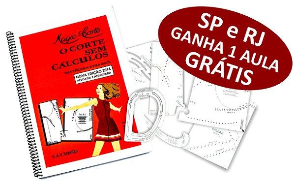Método Magic-Corte Volume 1º com Gabaritos Plásticos - SP E RJ GANHE 1 AULA GRÁTIS