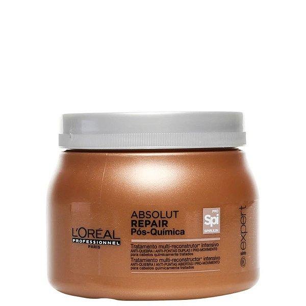 Pós-Química Tratamento Multi-reconstrutor Intensivo - Máscara de Tratamento L'Oréal Professionnel Absolut Repair  500g