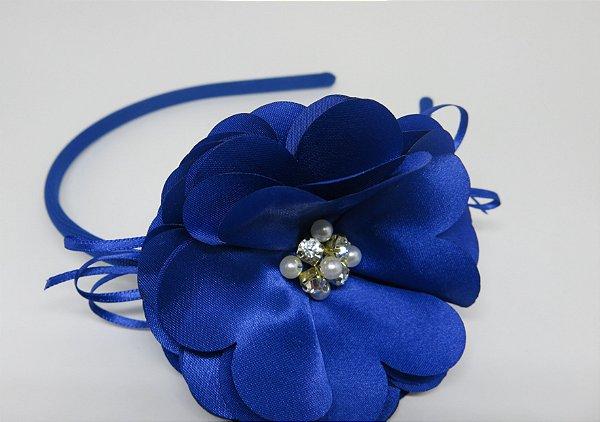 Tiara Flor de Cetim