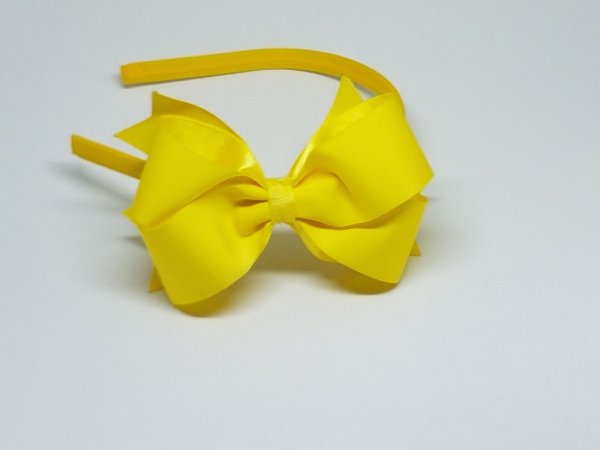 Tiara de Gorgurão - Gomada - Amarela