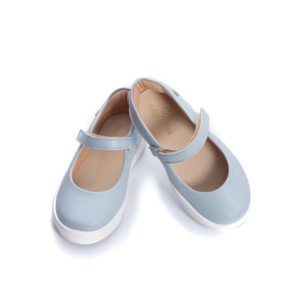 Tenis Sapatilha Mary Jane - Azul Claro