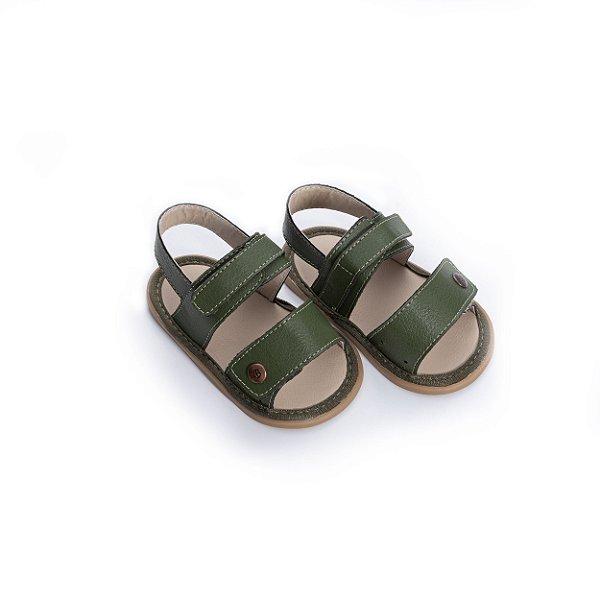 Sandália Baby Velcro - Verde Militar