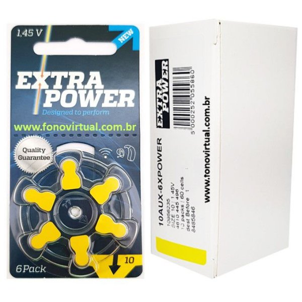 Bateria EXTRA POWER 10 / PR70 - Para Aparelho Auditivo