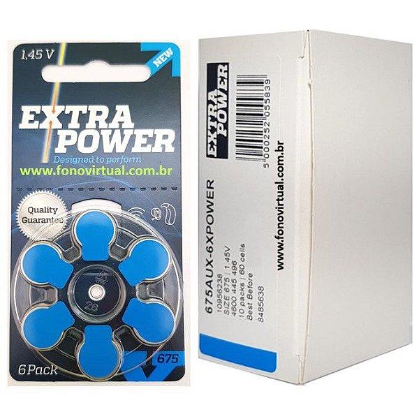 Bateria EXTRA POWER 675 / PR44 - Para Aparelho Auditivo